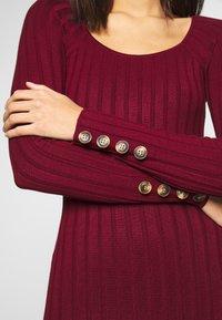 Miss Selfridge - DRESS - Abito in maglia - bordeaux - 4
