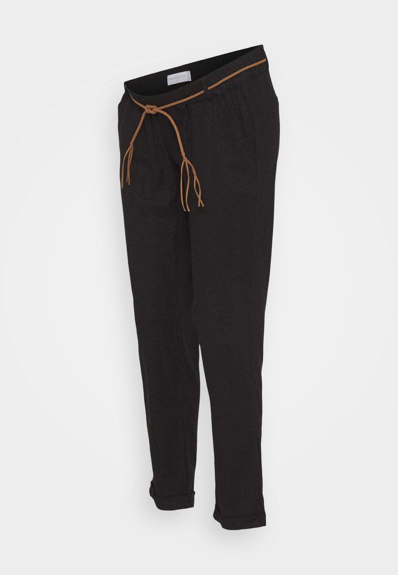 MAMALICIOUS - MLBEACH BELT PANT - Trousers - black