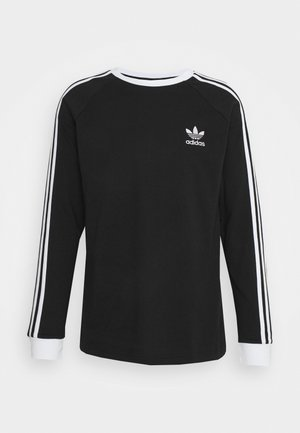 ADICOLOR CLASSICS 3-STRIPES LONG SLEEVE TEE - Topper langermet - black