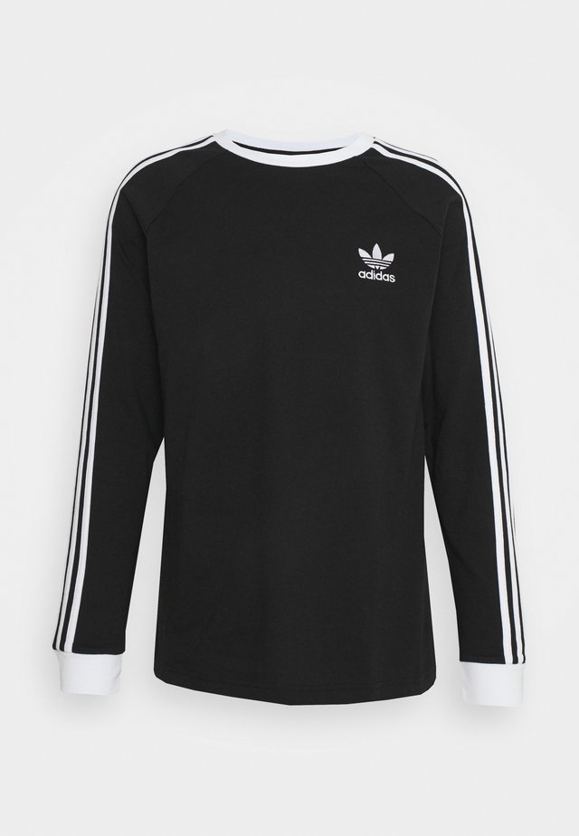 ADICOLOR CLASSICS 3-STRIPES LONG SLEEVE TEE - Langærmede T-shirts - black