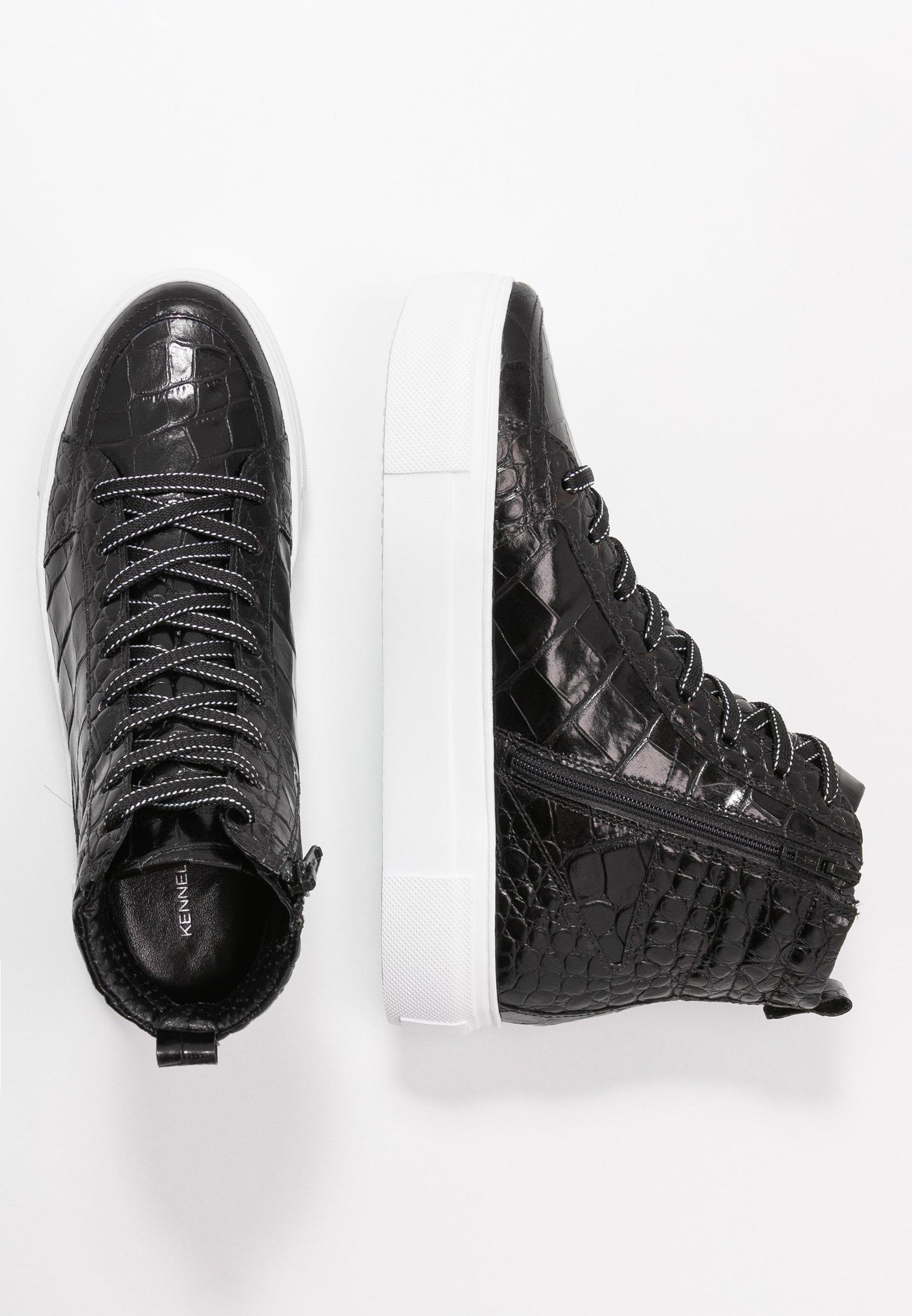 Svarte Kennel + Schmenger Høye Sneakers | Sko til Dame