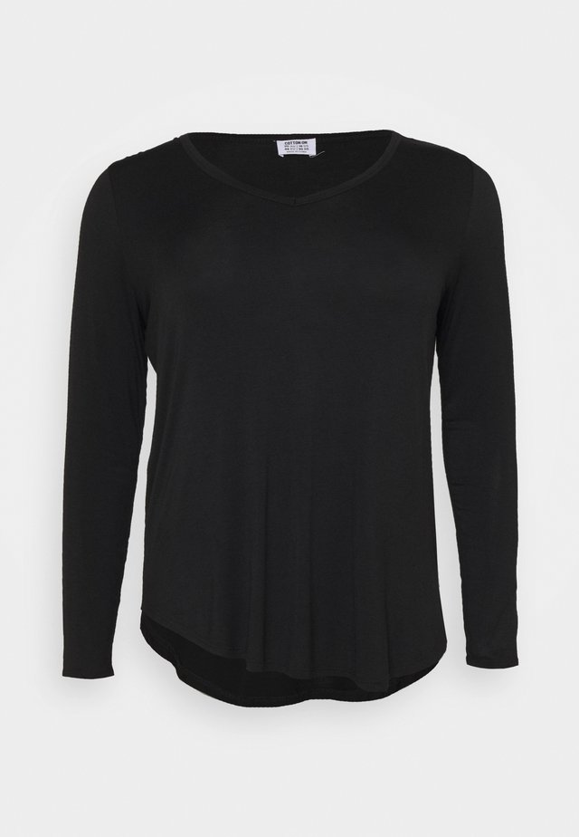 KARLY - Long sleeved top - black