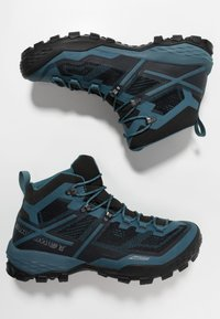 Mammut - DUCAN MID GTX - Hiking shoes - black/light poseidon - 1