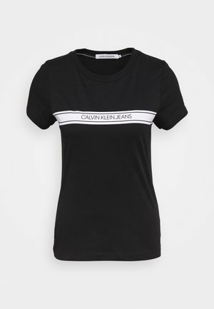 STRIPE SLIM TEE - T-shirt print - black