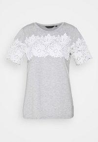 Dorothy Perkins - INSERT TRIM TEE - Print T-shirt - grey - 4