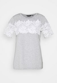 INSERT TRIM TEE - Print T-shirt - grey