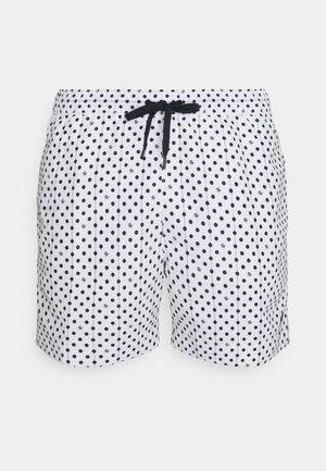 MEDIUM DRAWSTRING PRINT - Swimming shorts - white