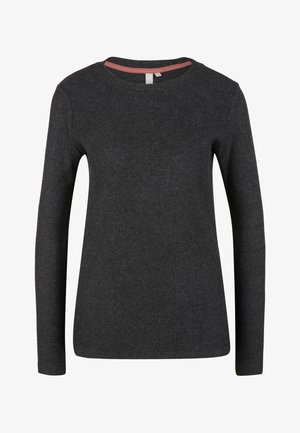 Long sleeved top - black melange