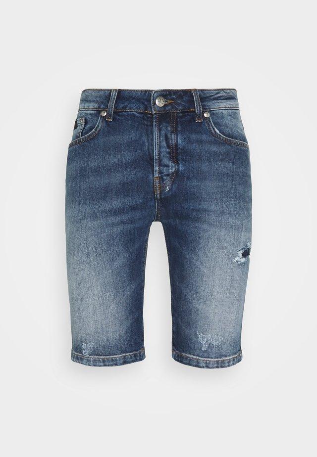 BERMUDA DENIM SNAPE - Jeansshorts - blue light