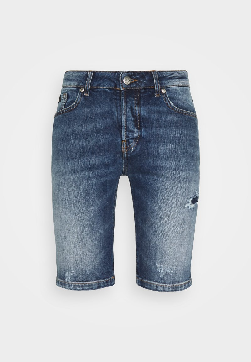 John Richmond - BERMUDA DENIM SNAPE - Denim shorts - blue light