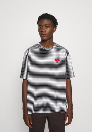 Print T-shirt - rigato/bianco/nero