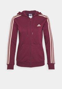 adidas Performance - Zip-up sweatshirt - victory crimson/halo blush - 4