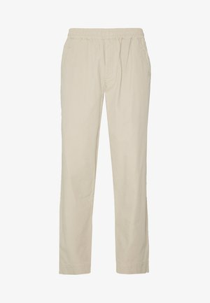 DRAWCORD ASSEMBLY PANTS - Tygbyxor - stone