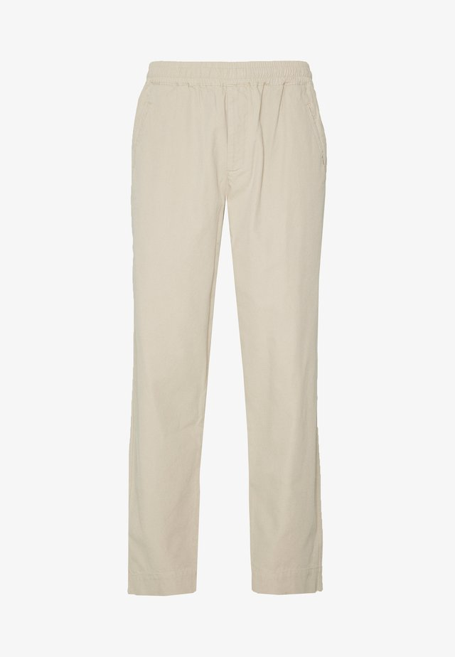DRAWCORD ASSEMBLY PANTS - Trousers - stone