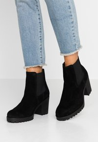 Selected Femme - SLFFILLIPPA CHELSEA - High heeled ankle boots - black - 0