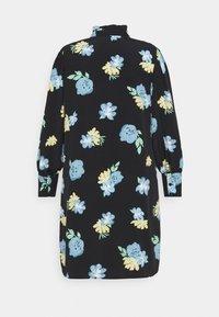 Glamorous Curve - GATHERED DRESS WITH PUFF LONG SLEEVES - Kjole - black - 7