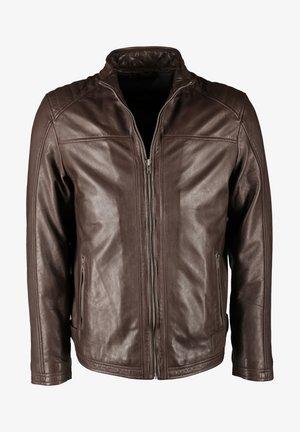 MIT ZWEI INNENTASCHEN DILLAN - Leather jacket - brown