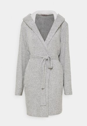 RIBBED BATHROBE - Kylpytakki - grey