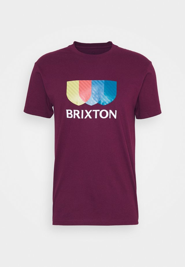 ALTON - Print T-shirt - burgundy