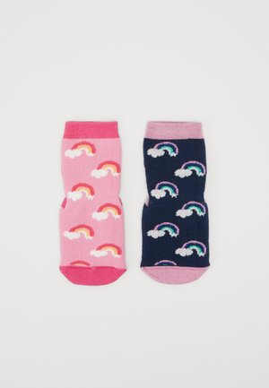 HOMESOCKS SOFTSTEP RAINBOW 2 PACK - Socks - tinte/pink