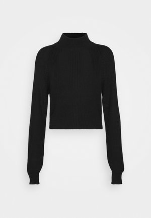 CROPPED PERKIN NECK - Jumper - black