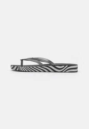 BOSSA SOFT FEM - Infradito - black/silver