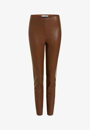Leggings - Trousers - light brown