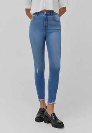 SKINNY HIGH WAIST - Jeans Skinny Fit - blue