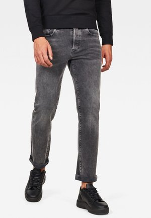 3301 STRAIGHT - Jeans a sigaretta - antic charcoal