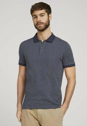 MIT BIRDSEYE-MUSTER - Polo shirt - dark blue