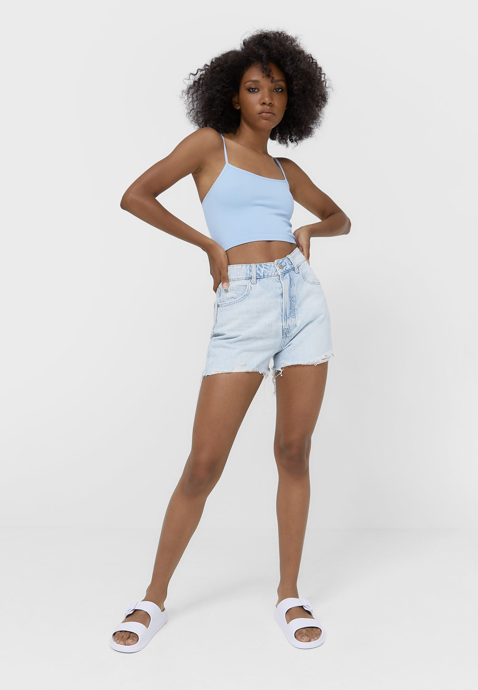 Alle MOM-FIT - Jeans Shorts