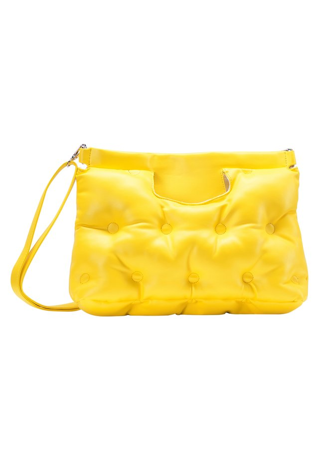 QUILTED BAG - Handtas - yellow