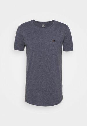 SHAPED POCKET TEE - Basic T-shirt - navy melange