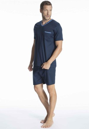 SCHLAFANZUG KURZ - Pyjama set - yacht blue