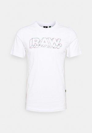 RAW - T-shirt con stampa - white