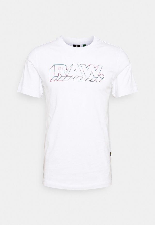 RAW - Print T-shirt - white