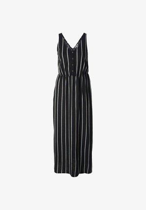 Maxi-jurk - black beige vertical stripe