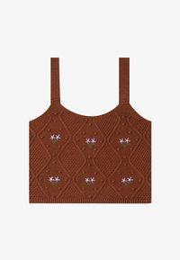 Stradivarius - MIT STICKEREI  - Top - brown - 4