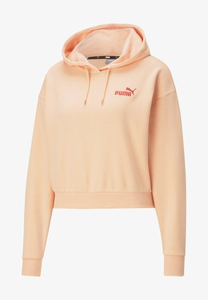 ESSENTIALS EMBROIDERED CROPPED  - Hoodie - apricot blush