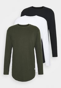 Jack & Jones - JJENOA TEE CREW NECK 3 PACK - Long sleeved top - white - 0