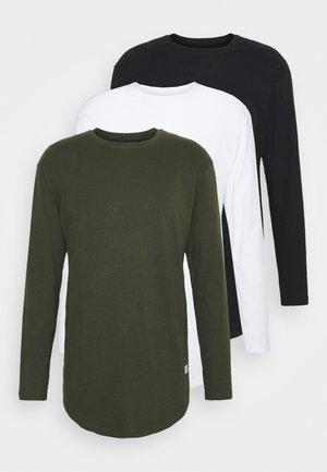 JJENOA TEE CREW NECK 3 PACK - Maglietta a manica lunga - white