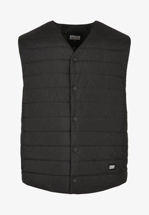 HERREN - Waistcoat - black