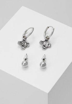 CROSS DROP AND STUD EARRINGS 2 PACK - Earrings - silver-coloured