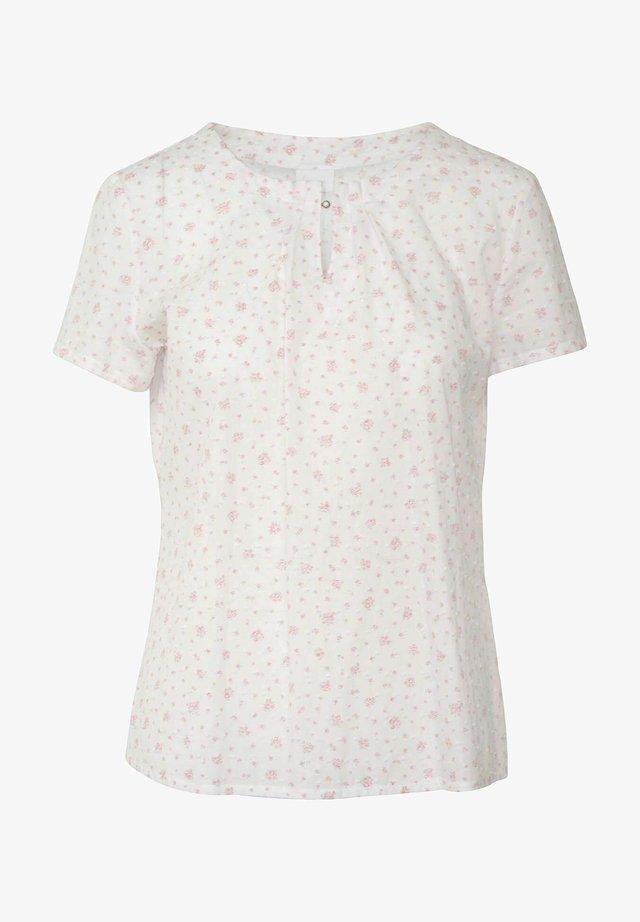 DURACH - Blouse - weiß/rosa