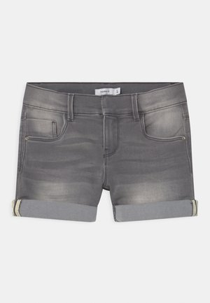 NKFSALLI DNMTASIS  - Denim shorts - light grey denim