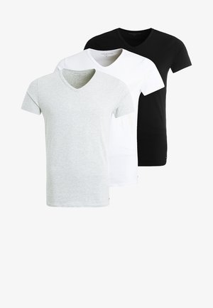 PREMIUM ESSENTIAL 3 PACK - Hemd - black/grey heather/white