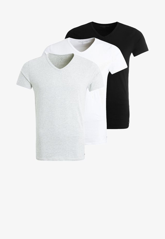 PREMIUM ESSENTIAL 3 PACK - Maglietta intima - black/grey heather/white