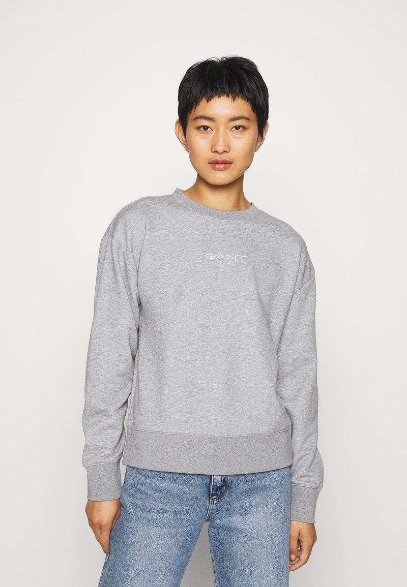 GANT - STRIPES C NECK - Sweatshirt - grey melange