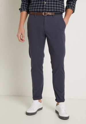 SLHSLIM JAMERSON PANTS - Pantalones chinos - blue nights