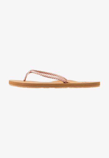 COSTAS - T-bar sandals - rose gold